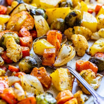 Roasted fall vegetables recipe