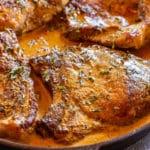 Cast iron pork chops recipe