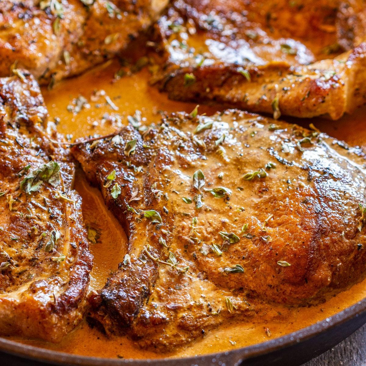 Cast Iron Skillet Pork Chops Recipe Happy Foods Tube