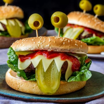 Halloween monster burgers recipe