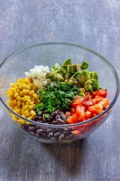 How to make black bean corn salad step 1