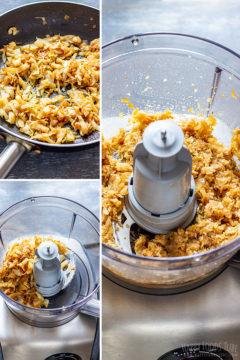 How to make gyoza filling step 2
