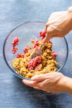 How to make gyoza filling step 3