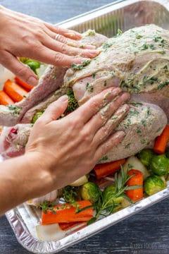 How to stuff a turkey step 2