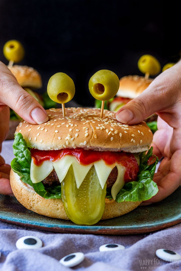 Monster burgers for Halloween Party
