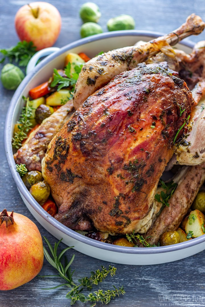 Thanksgiving turkey with vegetables
