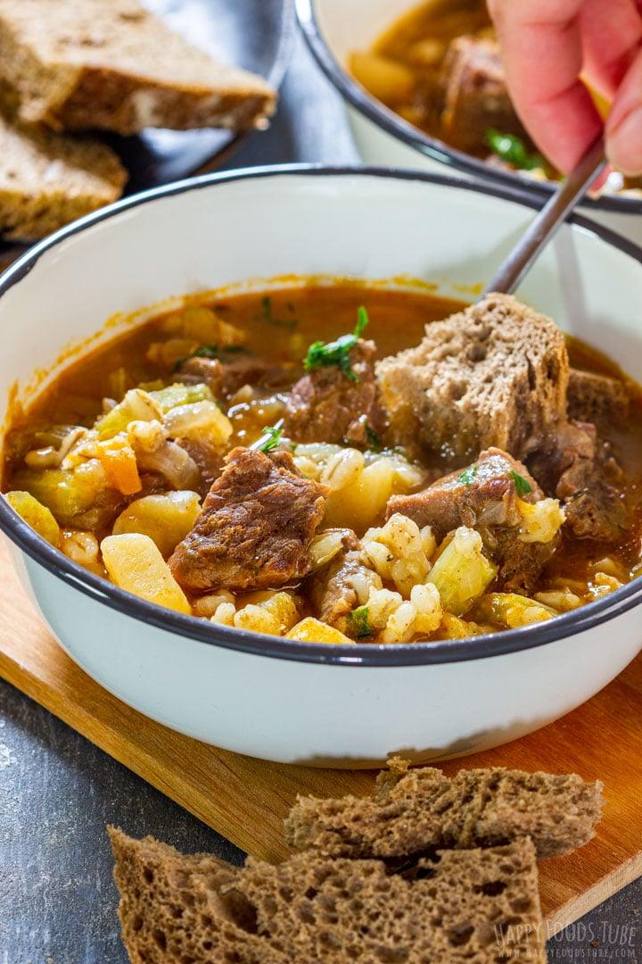 Pressure cooker beef barley soup