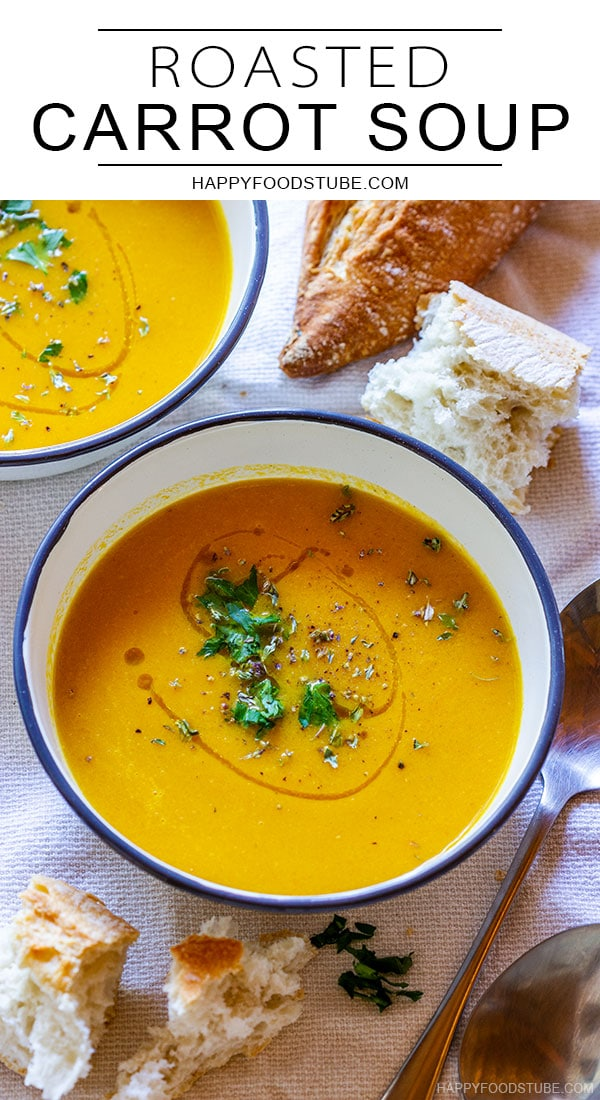 Roasted carrot soup image