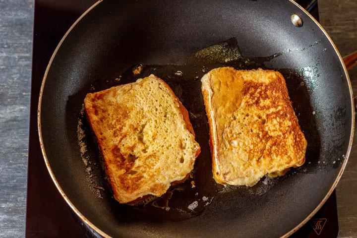Making brioche French toast step 2