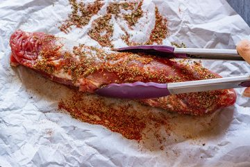 How to make bacon wrapped pork tenderloin step 1