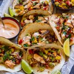 Homemade salmon tacos