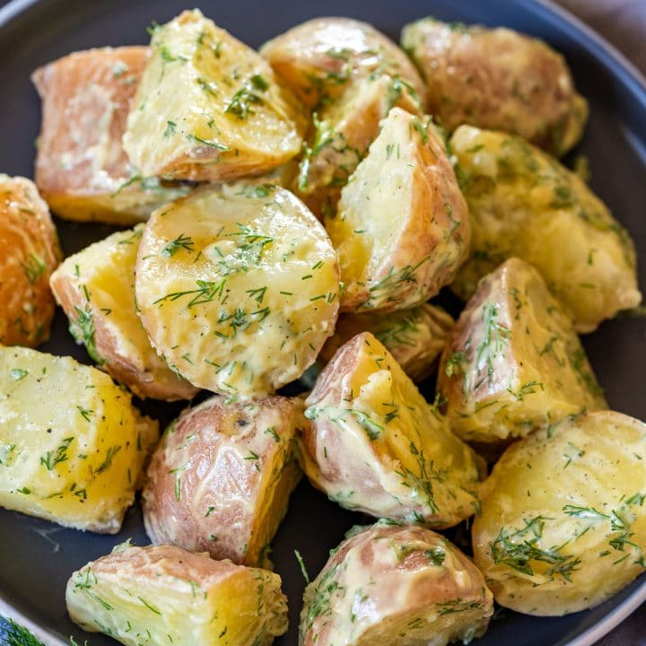 Homemade red potato salad