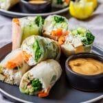 Homemade tofu spring rolls