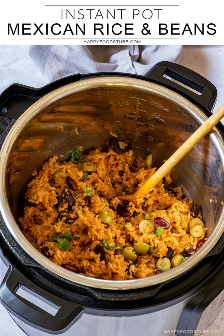 Best instant pot Mexican rice and beans