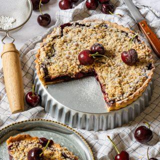 Cherry crumb pie recipe