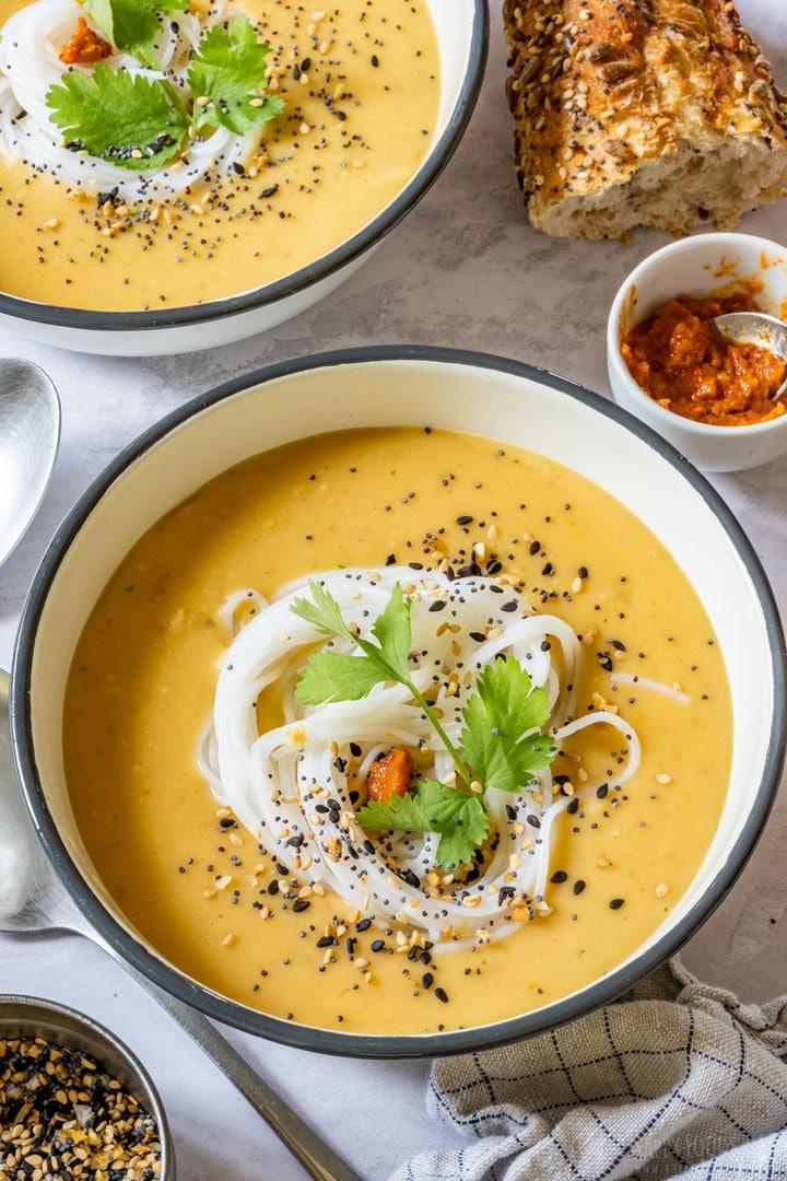 Pressure cooker creamy split pea soup