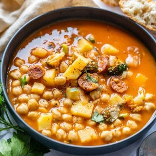 Comforting chickpea stew for lunch